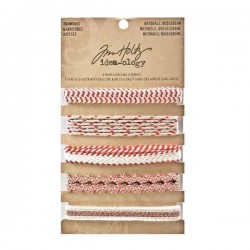 Tim Holtz Idea-ology Naturals Trimmings - Red and Cream