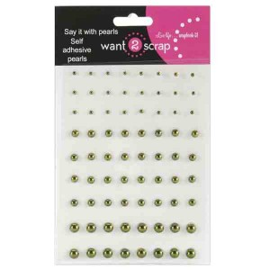 Self-Adhesive Pearls - Sage Green