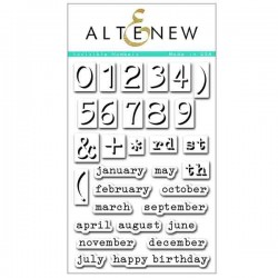Altenew Invisible Numbers Stamp Set