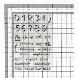 Invisible Numbers Stamp Set