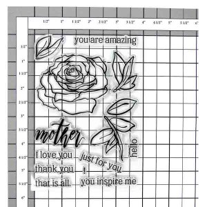 Altenew Penned Rose Stamp Set class=