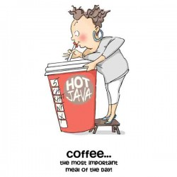 Cathy Caffeine Cling Rubber Stamp Set