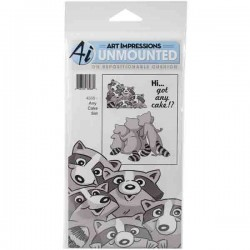 Any Cake Front-N-Backs Cling Rubber Stamp
