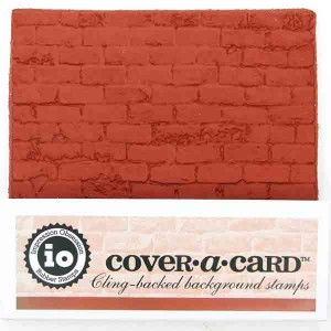 Impression Obsession Cover-A-Card Distressed Brick Stamp class=