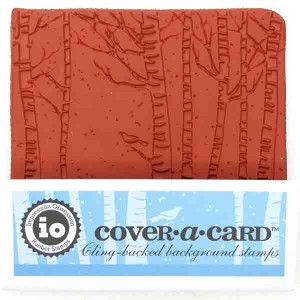Impression Obsession Cover-A-Card Birch Trees Stamp class=