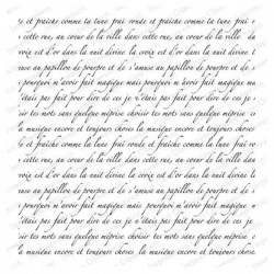 Impression Obsession Cover-A-Card French Text Stamp