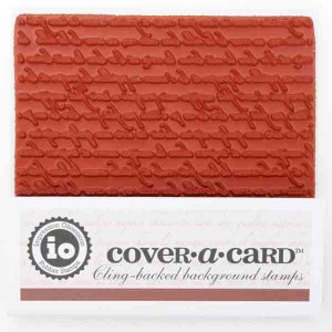 Impression Obsession Cover-A-Card French Text Stamp class=