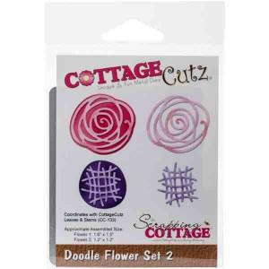 CottageCutz Doodle Flower Set 2 Die