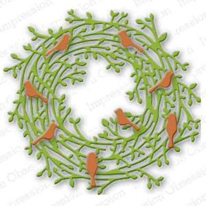 Leafy Wreath Die class=