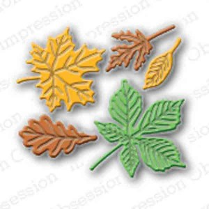 Impression Obsession Small Leaf Die Set class=