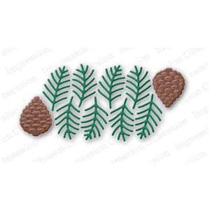 Pine Sprig Cluster Die Set class=
