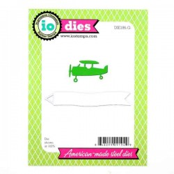 Impression Obsession Plane with Banner Die Set