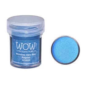 Dark Blue Metalline Embossing Powder