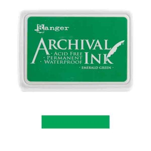 Ranger Emerald Green Archival Ink Pad class=