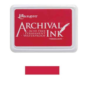 Ranger Vermillion Archival Ink Pad