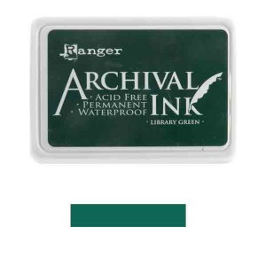 Ranger Library Green Archival Ink Pad class=
