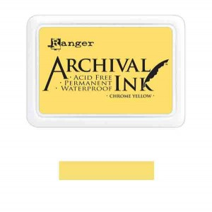 Ranger Chrome Yellow Archival Ink Pad class=