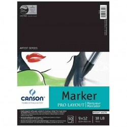 "Canson Artist Series Marker Sheet Pad - 9"" x 12"""