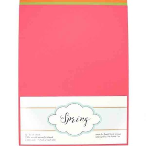 "Spring Card Stock Paper Pack - 12 sheets, 8.5"" x 11"" class="