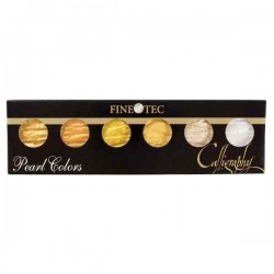 Finetec Artist Mica Watercolor Set - Gold & Silver