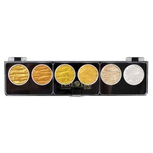 Finetec Artist Mica Watercolor Set - Gold & Silver class=