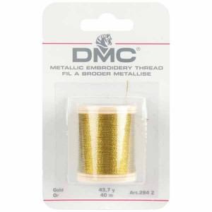 DMC Metallic Embroidery Thread - Gold