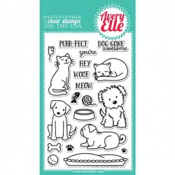 Avery Elle Furry Friends Stamp Set