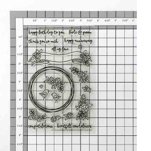 Avery Elle Banner & Wreath Stamp Set class=