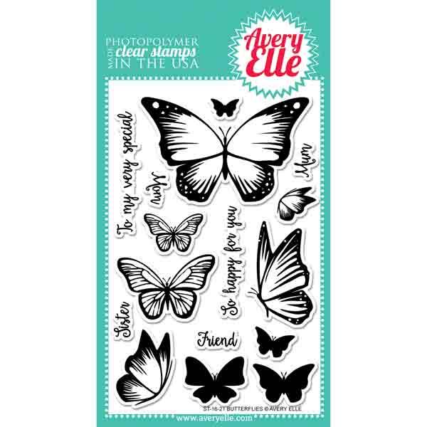 Avery Elle Butterflies Stamp Set