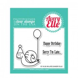 Avery Elle I'm Late Stamp Set