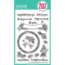 Avery Elle Banner & Wreath Stamp Set