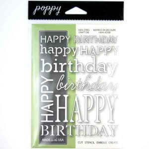 Poppystamps Happy Birthday Background Craft Die class=