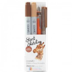 Copic Marker Start Sketching Set - Sepia Collection