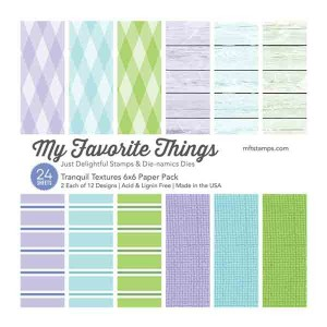 "Tranquil Single-Sided Paper Pad - 6"" x 6"" class="