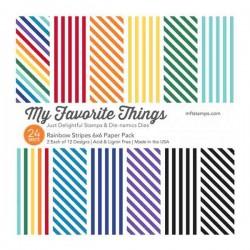 """Rainbow Stripes Paper Pad - 6"""" x 6"""""""