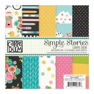 "Simple Stories Carpe Diem Paper Pad - 6"" x 6"""