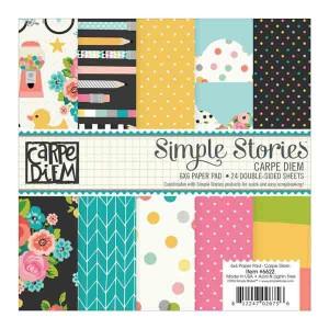 """Simple Stories Carpe Diem Paper Pad - 6"""" x 6"""""""