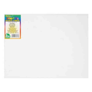 "Darice White Foam Sheet - 9"" x 12"", 3mm class="