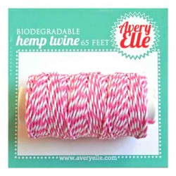 Avery Elle Hemp Twine - Raspberry