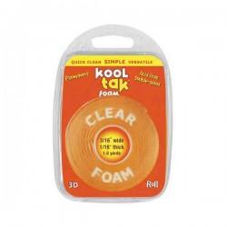"""KoolTak Clear Foam Roll - approx. 3/16"""""""
