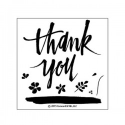 Concord & 9th Painted Thank You Stamp Set