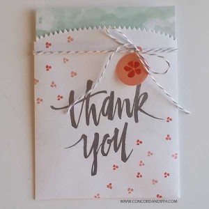 Concord & 9th Painted Thank You Stamp Set class=