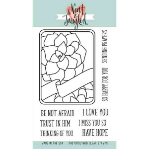 Neat & Tangled Succulent Journaling Card Stamp Set class=