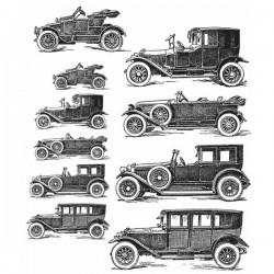 Tim Holtz Vintage Auto Stamp Set
