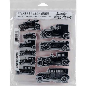 Stampers Anonymous Tim Holtz Vintage Auto Stamp Set