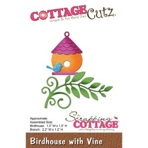 CottageCutz Birdhouse with Vine Die class=