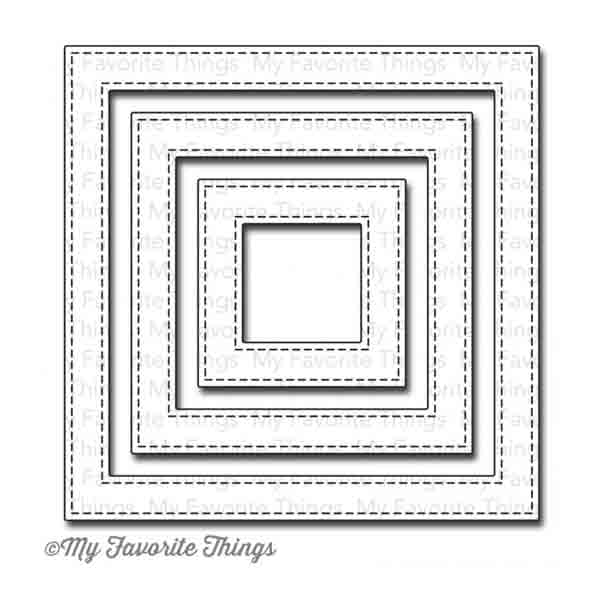 My Favorite Things Die-namics Stitched Square Frames - The Foiled Fox