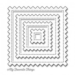 My Favorite Things Die-namics Stitched Pinking Edge Square STAX