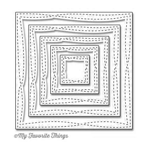 My Favorite Things Die-namics Wonky Stitched Square STAX