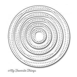 My Favorite Things Die-namics Wonky Stitched Circle STAX
